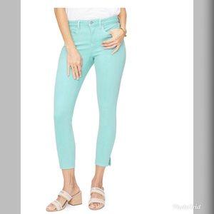NWT NYDJ Ami Skinny Teal Ankle Jeans